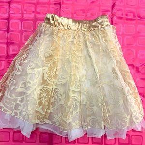 Weissman dance skirt layered with built in briefs